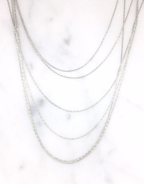 Short Dainty Multi Layer Chain Neckl - orangeshine.com