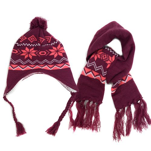 Kids Winter Knitted Scarf and Hat - orangeshine.com