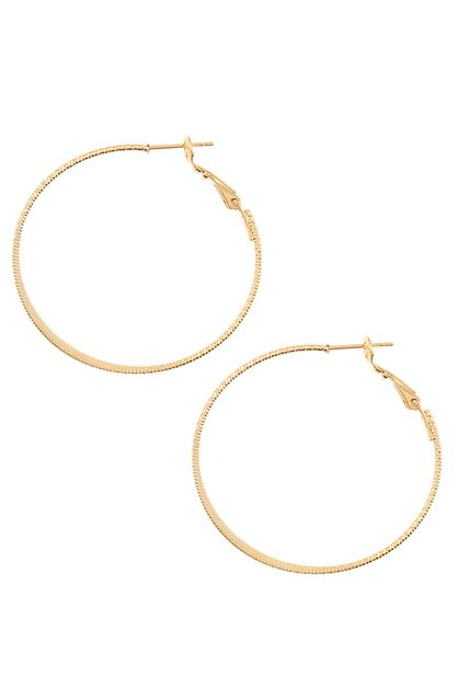 FLAT CENTER HOOP EARRING  - orangeshine.com