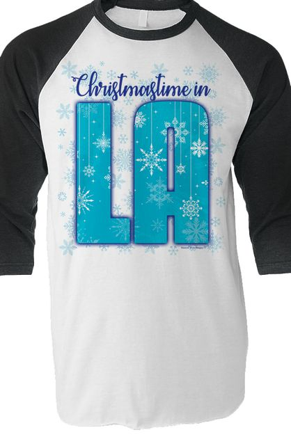 Christmastime in Louisiana Raglan T - orangeshine.com