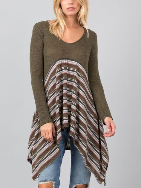 LOOSE FIT TUNIC SWEATER TOP - orangeshine.com
