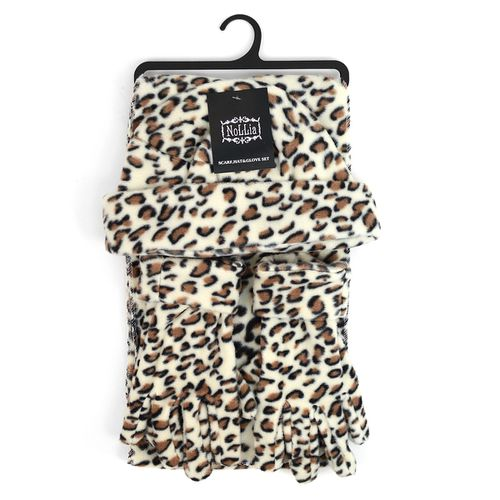 6pc Womens Leopard Print Winter Set - orangeshine.com