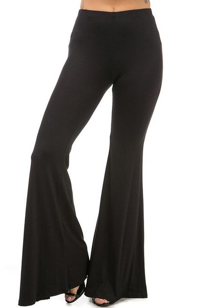 FLARE BOTTOM SOLID PANTS - orangeshine.com