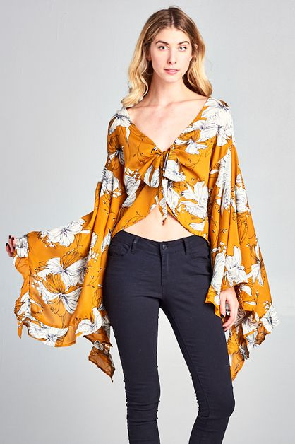 Bell sleeve top - orangeshine.com