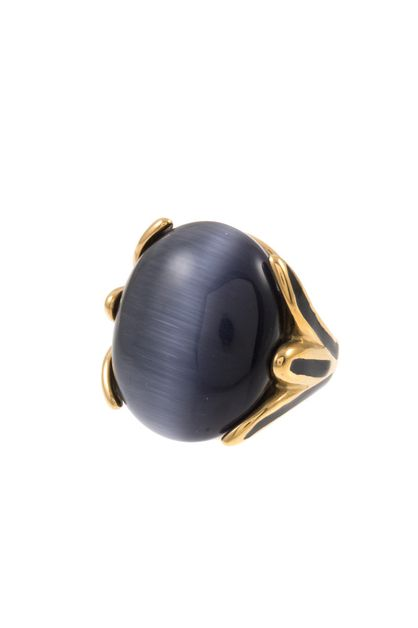 OVAL FRAMED GEMSTONE RING  - orangeshine.com