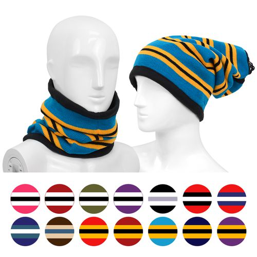 12pc Striped  2-in1 Head Neck Warmer - orangeshine.com