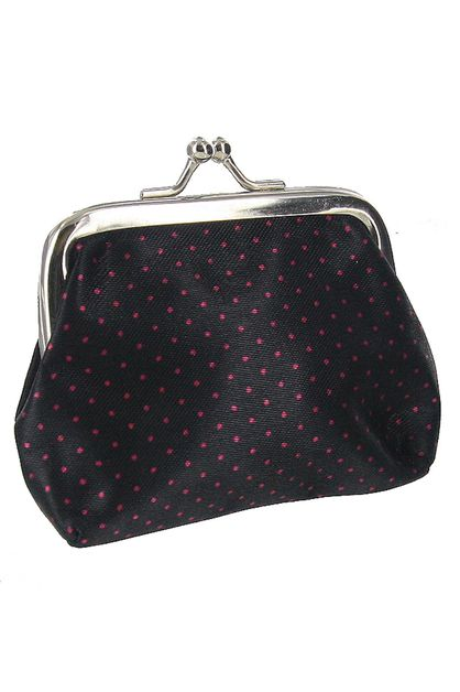 Polka Dot Print Coin Purse - orangeshine.com