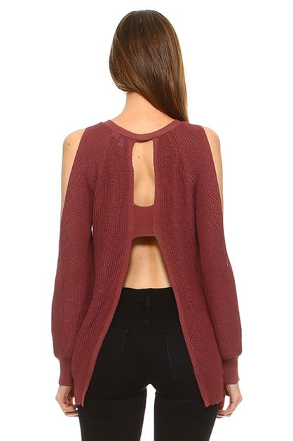 OPEN SHOULDER SWEATER - orangeshine.com