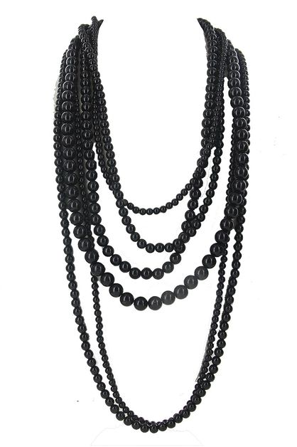 Chunky Pearl Layered Necklace - orangeshine.com