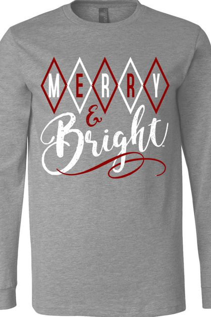 Merry and Bright BC LS Deep Heather - orangeshine.com