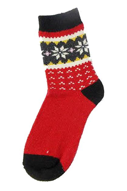Snowflake Christmas Theme Socks - orangeshine.com