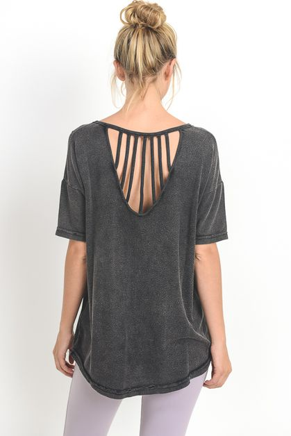 SUN RAY STRAP ACCENT BLOUSE - orangeshine.com