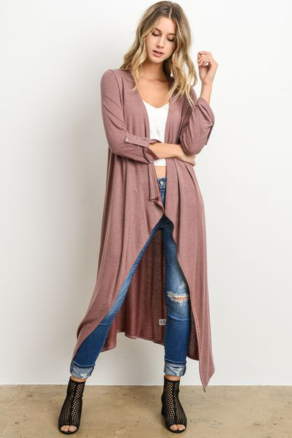 DRAPED LONG CARDIGAN - orangeshine.com