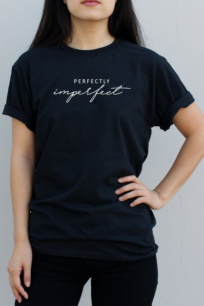Perfectly Imperfect Graphic Tee - orangeshine.com