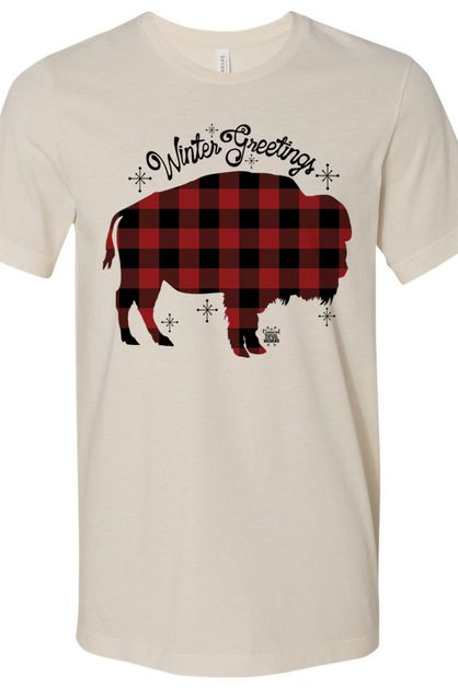 Buffalo Plaid Buffalo Cream Soft Tee - orangeshine.com