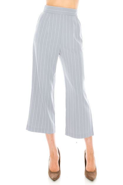 Stripe Wide Pants - orangeshine.com