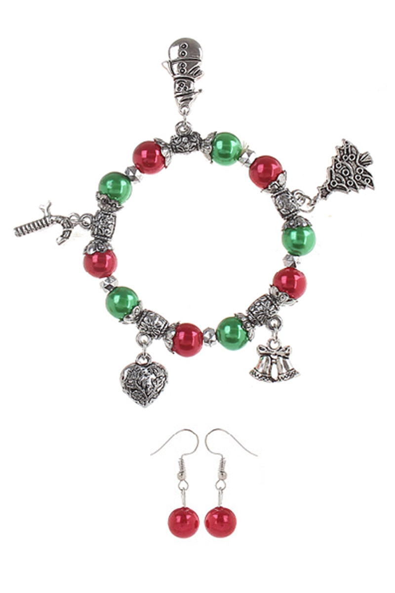 Christmas Theme Stretch Bracelet - orangeshine.com