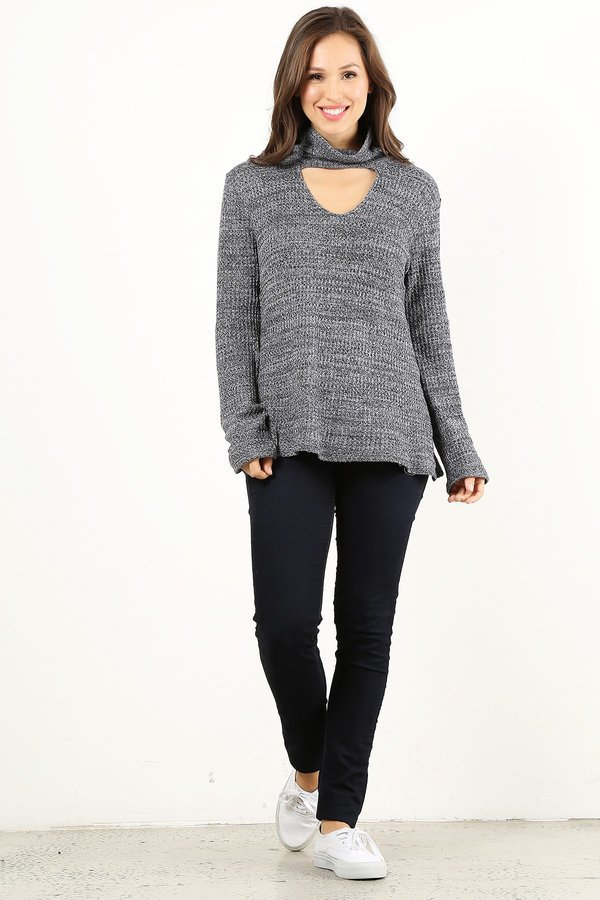 neck band sweater top - orangeshine.com