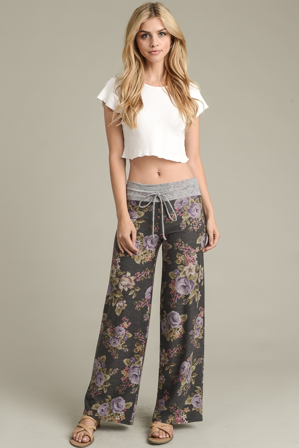 Fashionable Floral Print Pants - orangeshine.com