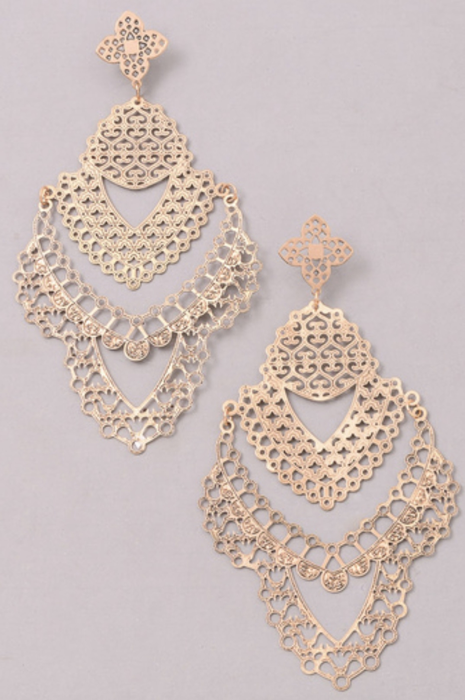 LASER CUT OUT STATEMENT EARRINGS - orangeshine.com