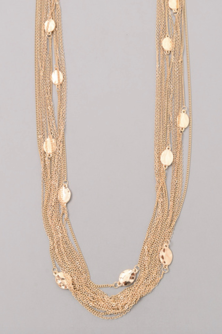 MULTIPLE COIN CHAIN NECKLACE - orangeshine.com