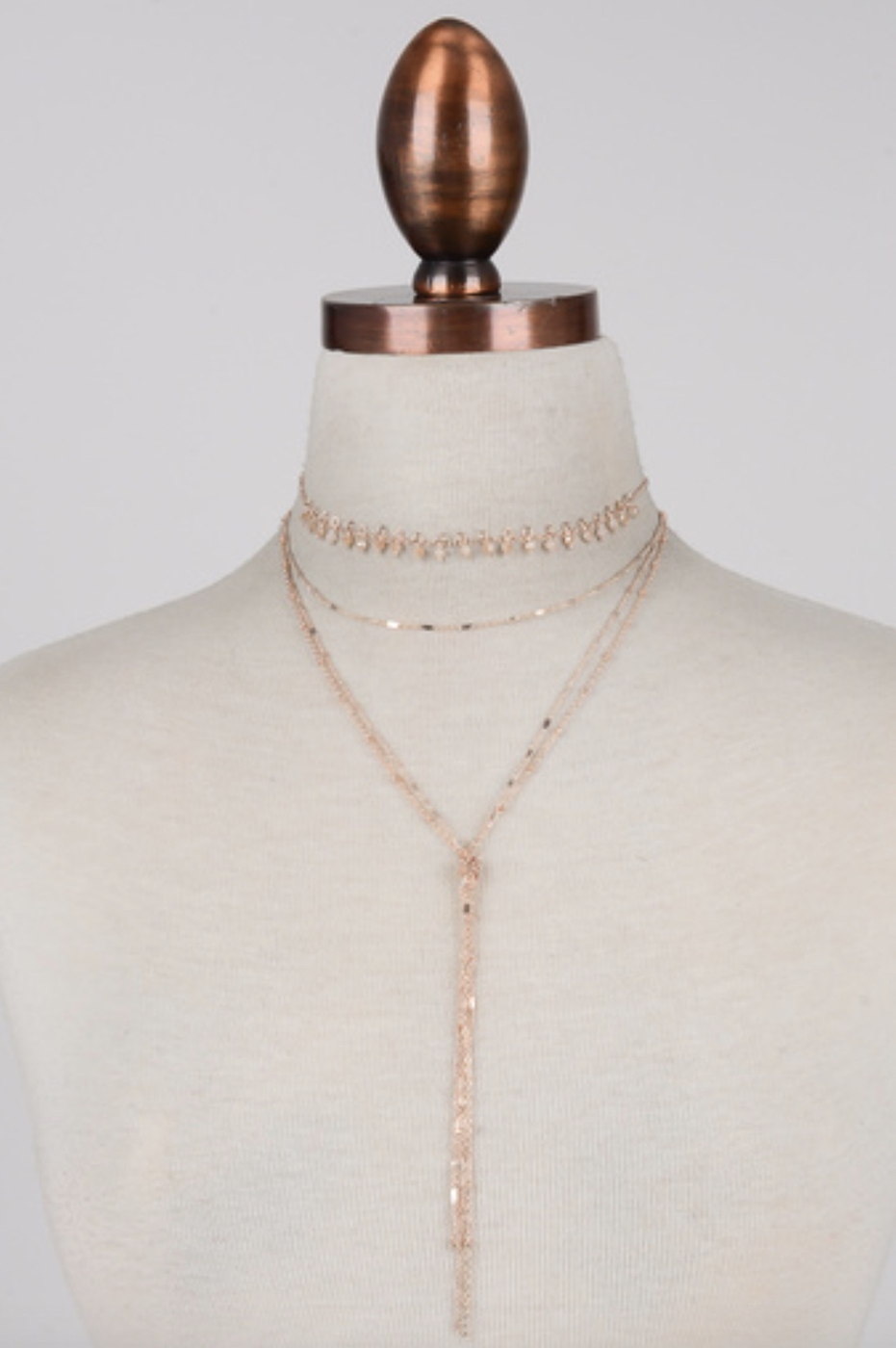 DOUBLE LAYERED KNOT NECKLACE - orangeshine.com