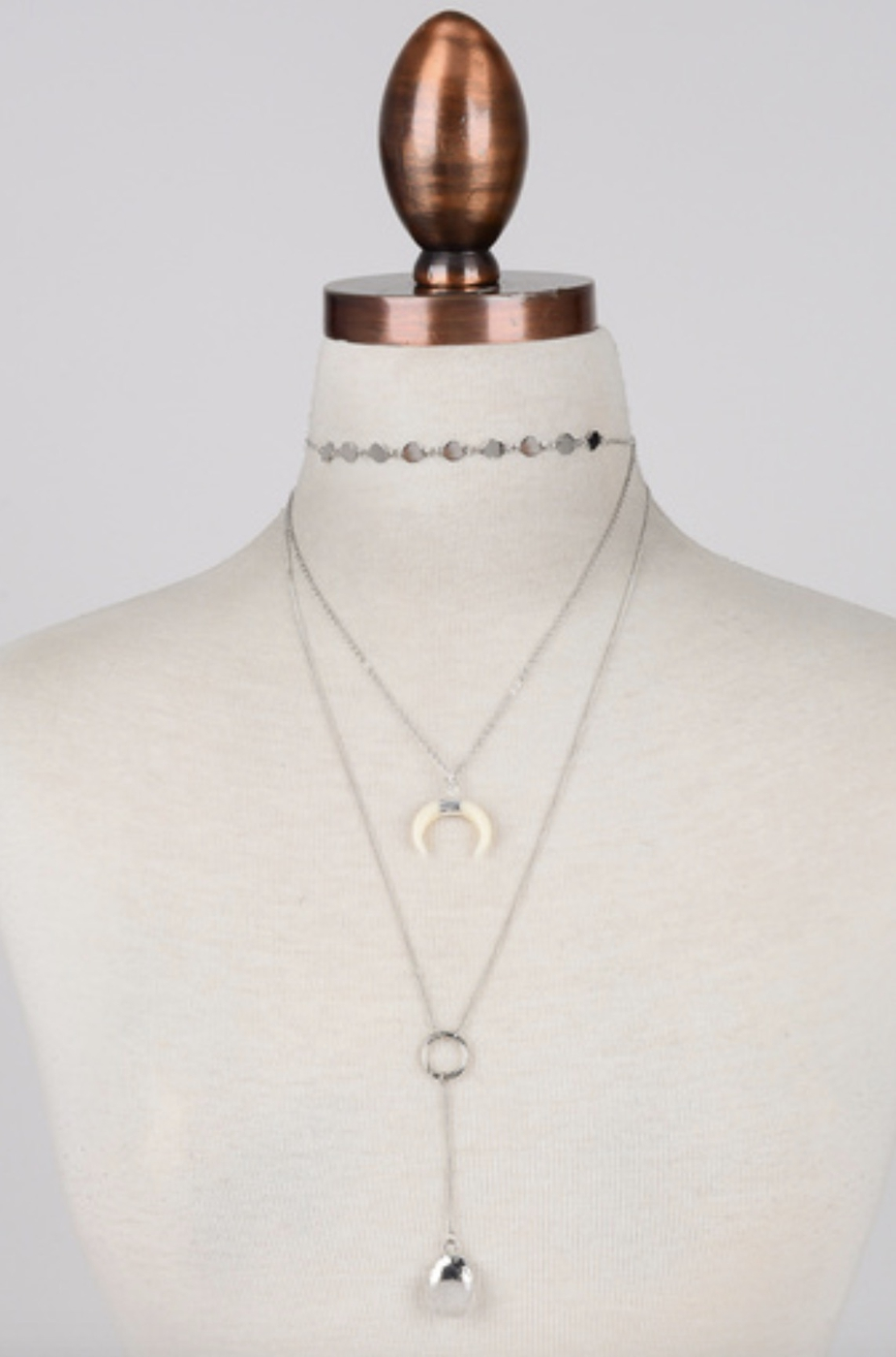 CRESCENT AND STONE CHARM CHOKER - orangeshine.com
