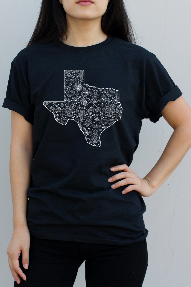 Texas Map Graphic Tee - orangeshine.com