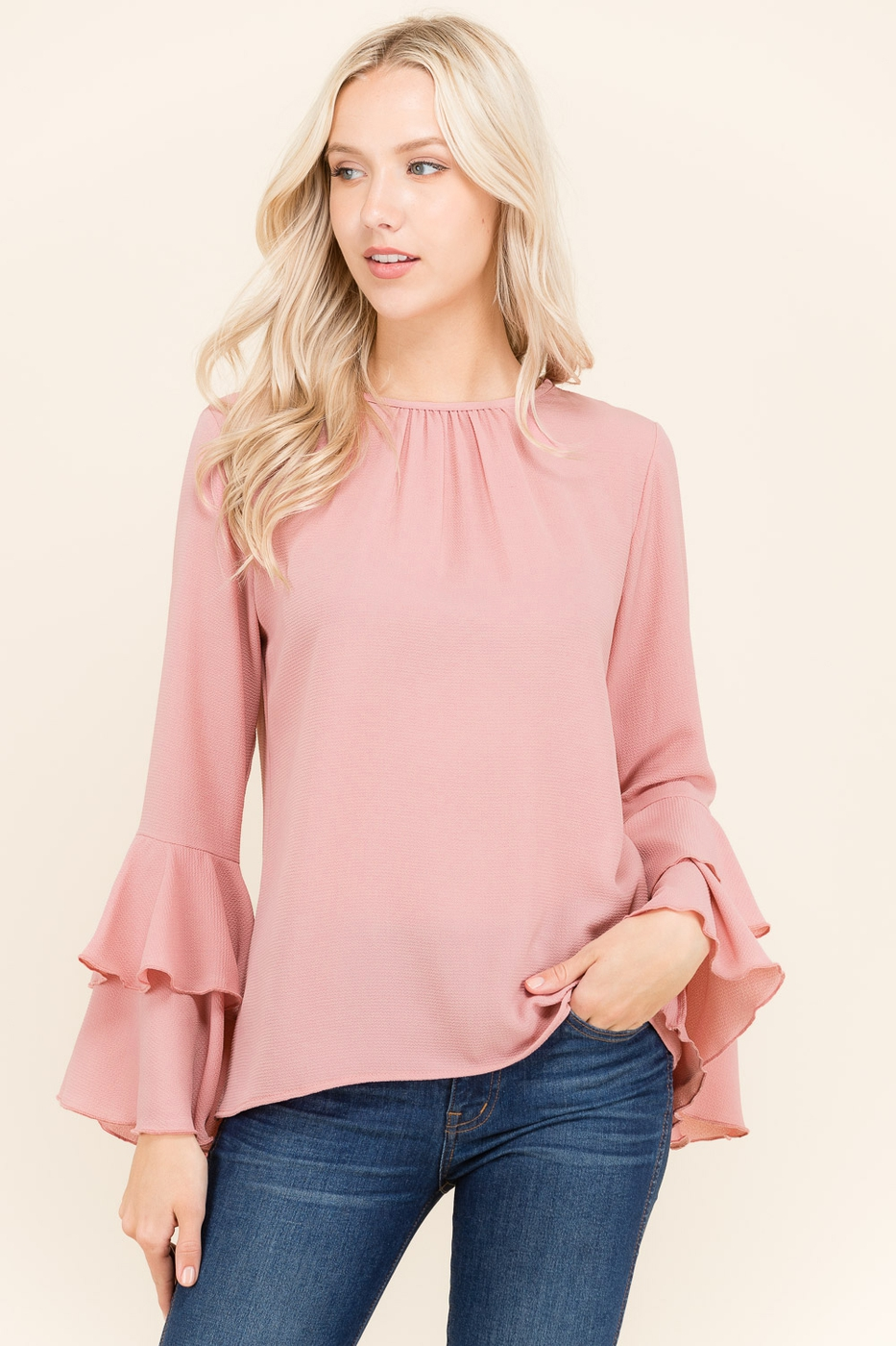 BELL CIRCLE SLEEVE TOP - orangeshine.com