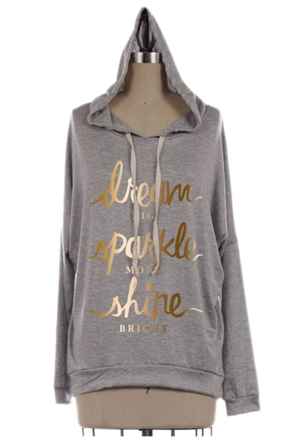 WOMEN GRAPHIC DOLMAN HOODIE - orangeshine.com