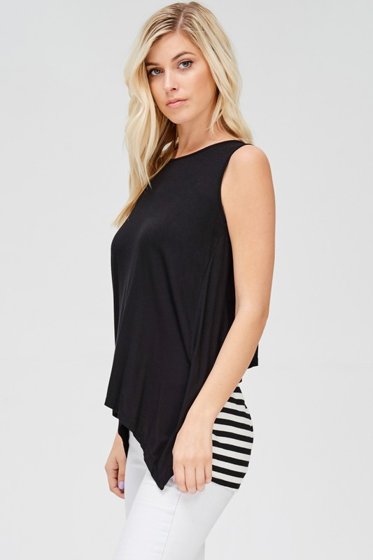SLEEVELESS DRAPE BACK TOP - orangeshine.com