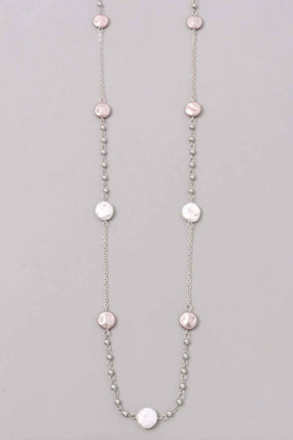 PEARL CHARM NECKLACE - orangeshine.com