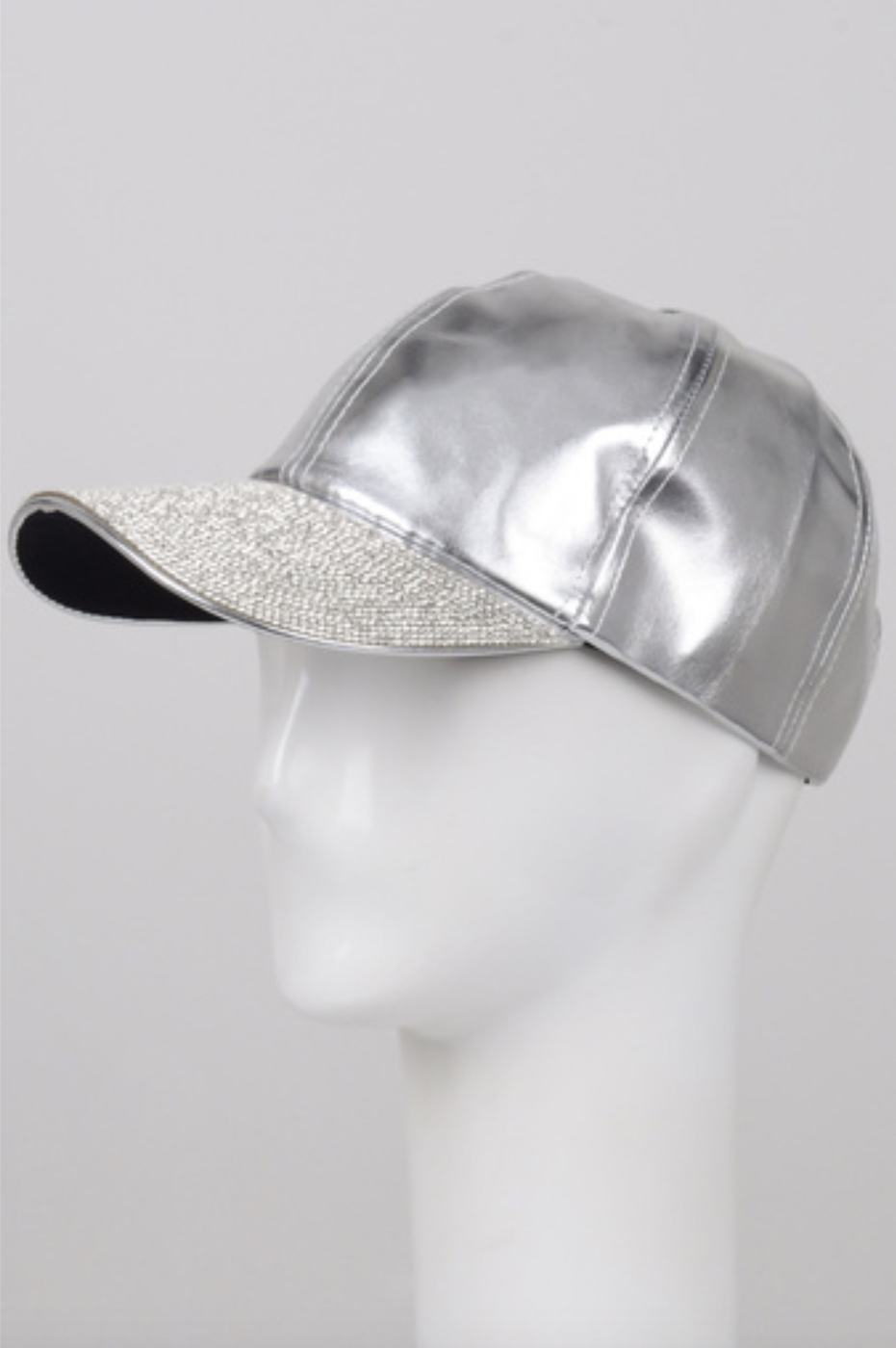 JEWEL TRIM VISOR LEATHER HAT - orangeshine.com