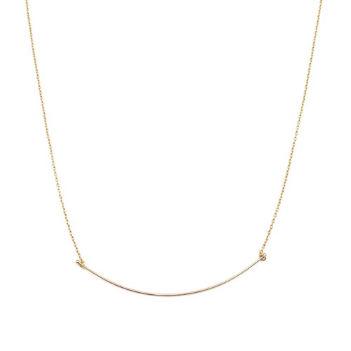 Willow Curve Bar Necklace - orangeshine.com