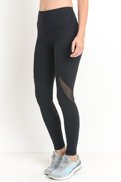HIGH WAIST SLANTED MESH FULL LEGGING - orangeshine.com