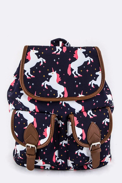Unicorn Pattern Backpack - orangeshine.com