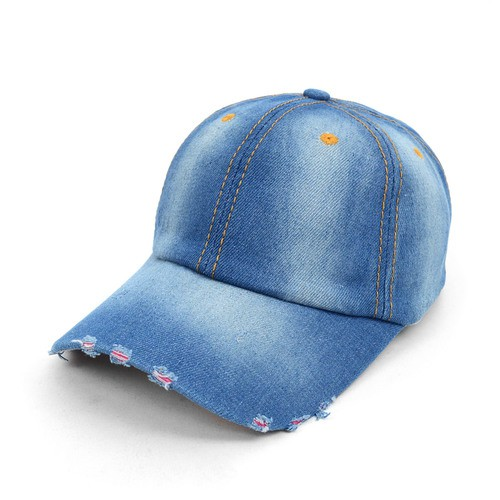 Blank Denim Baseball Cap - orangeshine.com