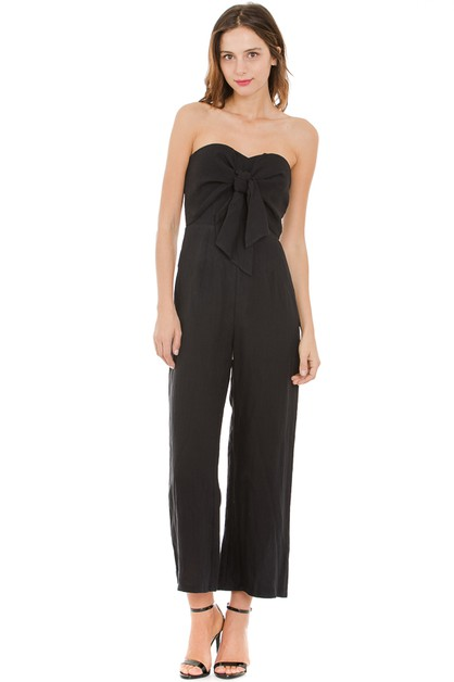 Wide leg tube jumpsuit - orangeshine.com