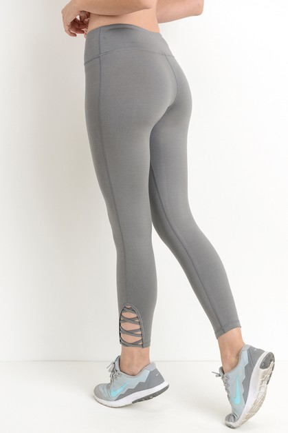 Lattice Strap Full Leggings - orangeshine.com