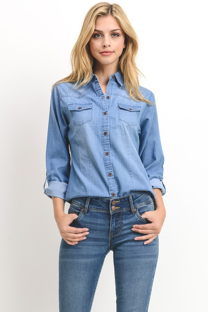 Chambray Shirt - orangeshine.com