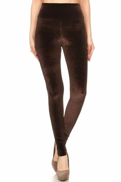 Velvet leggings  - orangeshine.com