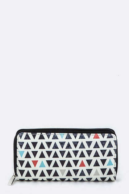 Triangles Pattern Wallet - orangeshine.com