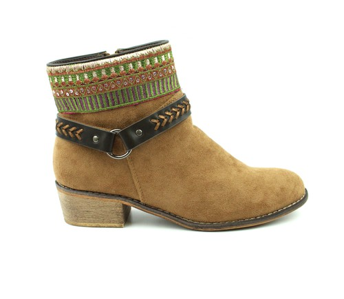 INDIAN TRIBES DESIGNS RIDING BOOTIES - orangeshine.com