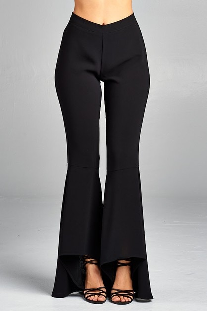 Asymmetric Hem Pants - orangeshine.com