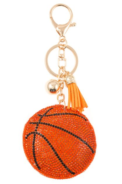 STUDDED BASKETBALL DROP KEY CHAIN - orangeshine.com