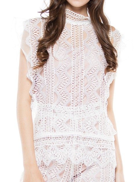 A reve lace and knit maxi dress