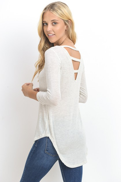 OPEN BACK V TUNIC TOP - orangeshine.com
