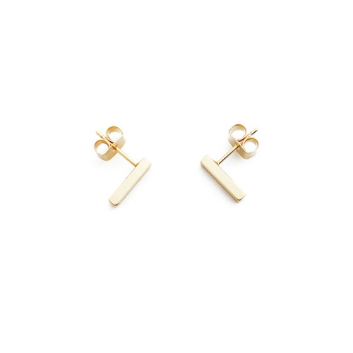 Drop Bar Stud Earrings - orangeshine.com