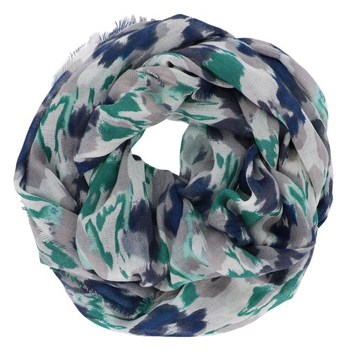Abstract Floral Infinity Scarf - orangeshine.com
