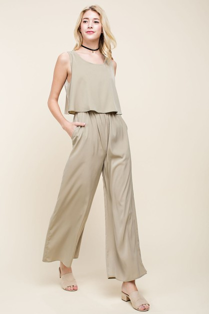 Open Back Layered Jumpsuit - orangeshine.com